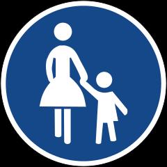 Zeichen 239 Gehweg
