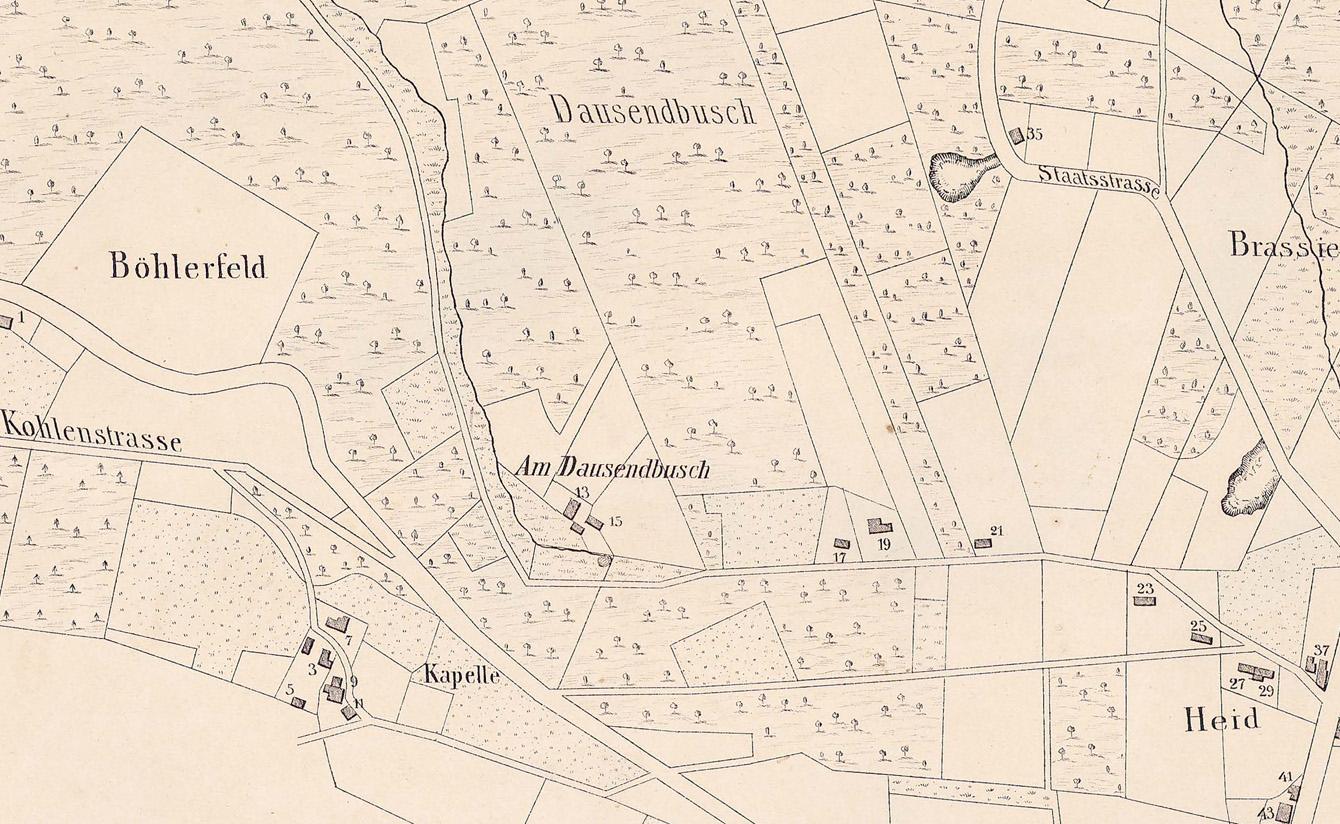 Barmer Stadtplan von 1862/63