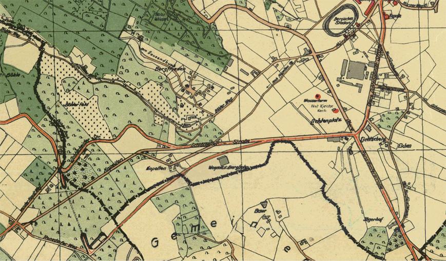 Ausschnitt des Wuppertaler Stadtplans von 1930