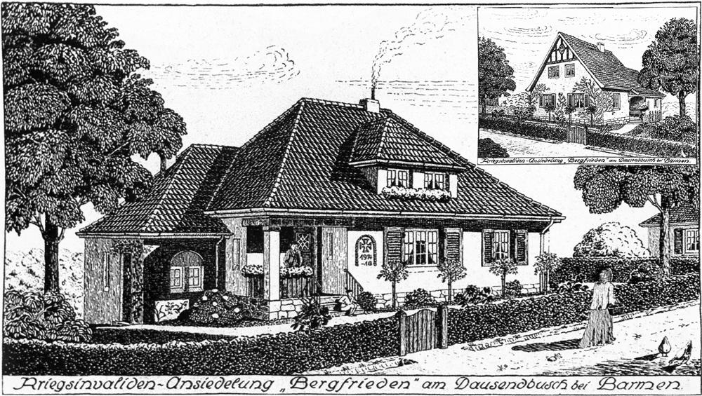 Idealansicht Typ mit Satteldach (kleine Bild) und mit Walmdach. Quelle; Siebold WMB 1921/22.