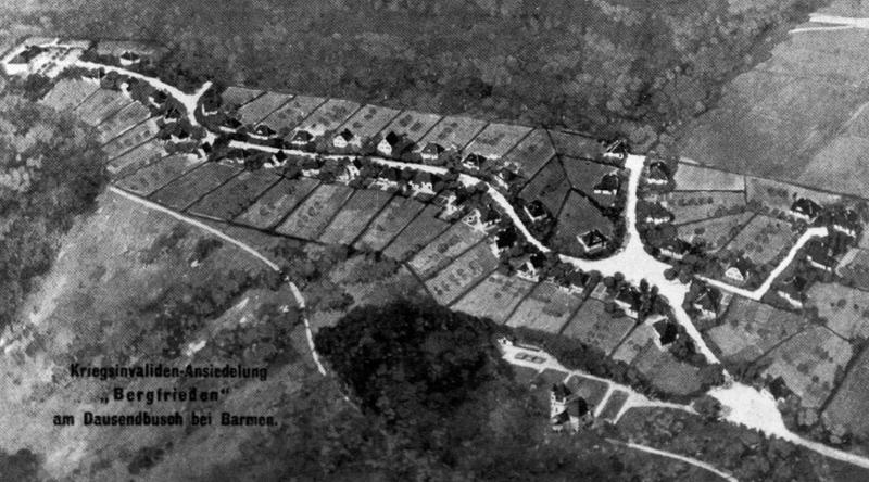 Die Kriegsinvalidensiedlung Bergfrieden nach den Planungen
