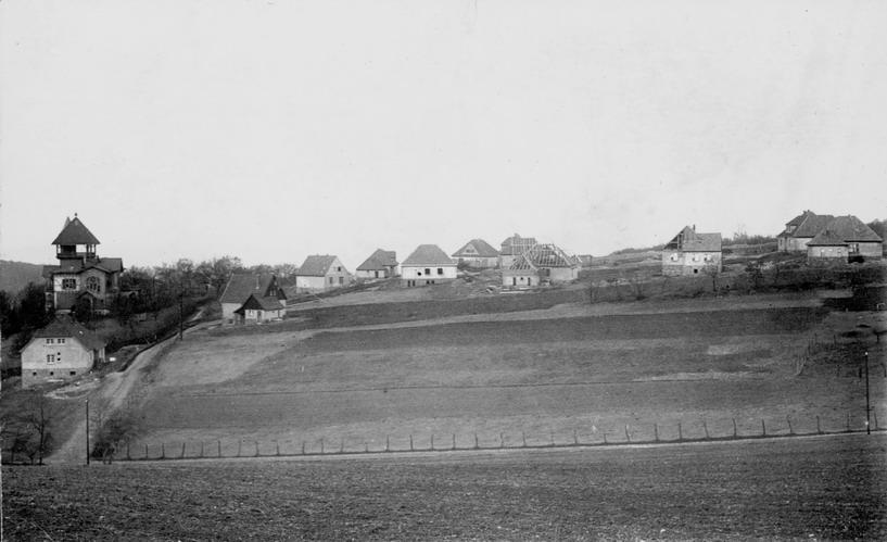Die Siedlung von Süden aus gesehen